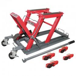 PODNOŚNIK MOTOCYKLOWY 400KG 140-420MM (34.2KG) CE PROLINE