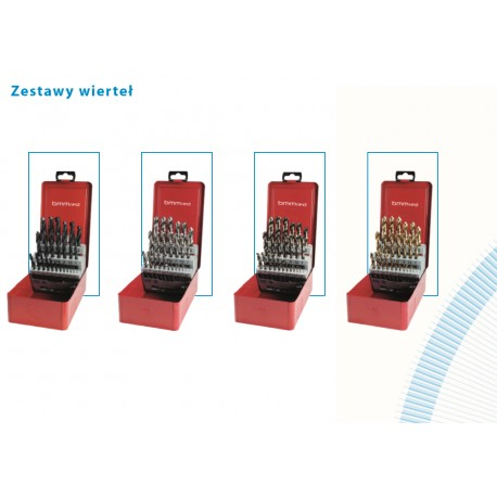 Zestaw wierteł HSS-Co5 kobaltowe 1-13mm x0,5mm HSS 25szt.