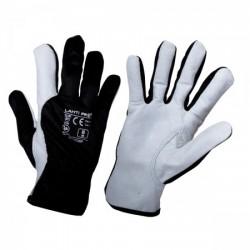 Rękawice ochronne ze skóry koziej czarne Lahti Pro