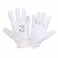Rękawice ochronne skóra kozia białe Lahti Pro