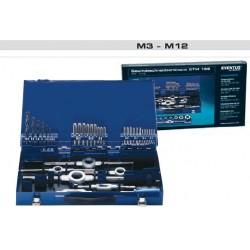 ZESTAW NARZĘDZI DO GWINTOWANIA M3-M12 HSS-E EVENTUS