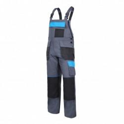 Spodnie robocze ogrodniczki 100% bawełna szaro - niebieskie