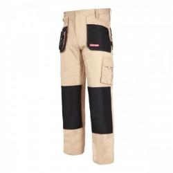 Spodnie robocze monterskie do pasa ochronne 100% bawełna beżowe