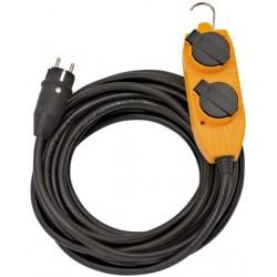 PRZEDŁUŻACZ IP44 DO ZASTOSOWAŃ BUDOWLANYCH 10m CZARNY H07RN-F 3G2,5 *FR*
