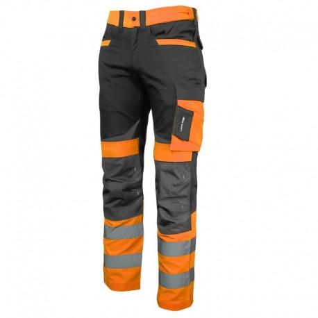 Spodnie ostrzegawcze robocze do pasa Slim Fit POMARAŃCZOWE