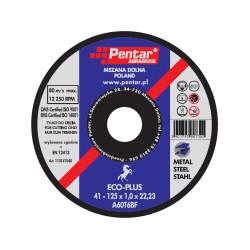 Tarcza do cięcia stali, metalu 125x1 PENTAR ECO-PLUS płaska