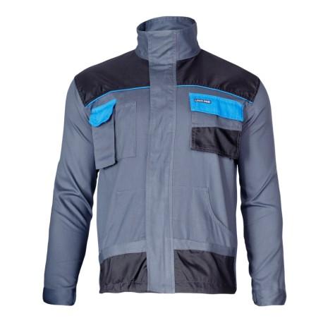 Bluza robocza ochronna męska 100% bawełna szaro - niebieska