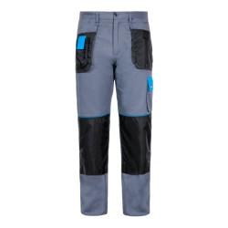 Spodnie robocze do pasa 100% bawełna szaro - niebieskie