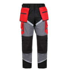 Spodnie robocze monterskie do pasa ochronne 100% bawełna z odblaskami