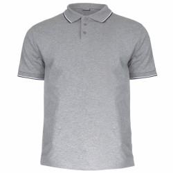 Koszulka polo męska SZARA 100% bawełna